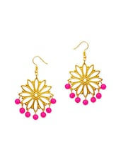 pink brass chandellier earring -  online shopping for earrings