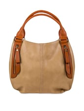 Brown Faux Leather Solids Shoulder Bag - By