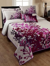 Pink Cotton Double Bed Cover With 2 Pillow Covers -  online shopping for bed covers