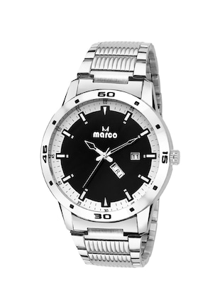 MARCO DAY N DATE MR-GR3009-BLACK-CHAIN ELITE CLASS ANALOGUE WATCHAIN FOR MEN & BOYS -  online shopping for Analog Watches