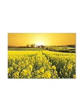 Multicolored  Matte Finish Paper Yellow Evening Poster - By