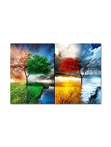 Multicolored  Matte Finish Paper Vibrant Nature Poster