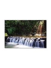 Multicolored  Matte Finish Paper Flowing Waterfall Poster - By