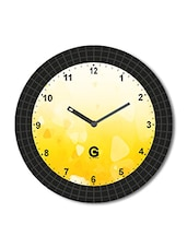 Multicolored Plastic And Glass Printed Wall Clock - By - 1325646