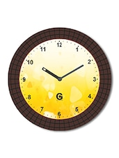 Multicolored Plastic And Glass Coffee Beans Printed Bubble Printed Wall Clock - By