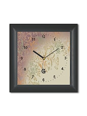 Multicolored Plastic And Glass Floral Printed Wall Clock - By
