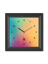 Multicolored Plastic And Glass Printed Wall Clock - By