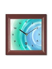 Multicolored Plastic And Glass Wave Patterned  Printed Wall Clock - By