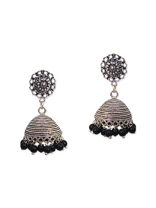 black metal chandellier earring -  online shopping for earrings