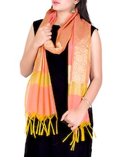 Orange Zari Work Banarasi Dupatta - By