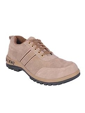 beige Leather lace up shoe -  online shopping for Shoes