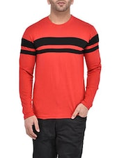 red cotton tshirt -  online shopping for T-Shirts