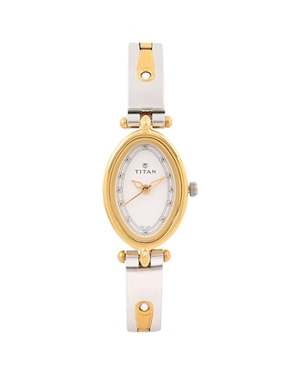 Titan Analog White Dial Women's Watch - 2418BM03 -  online shopping for Wrist watches