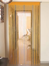 @home By Nilkamal Silver Polyester Metallic Door Curtain - By
