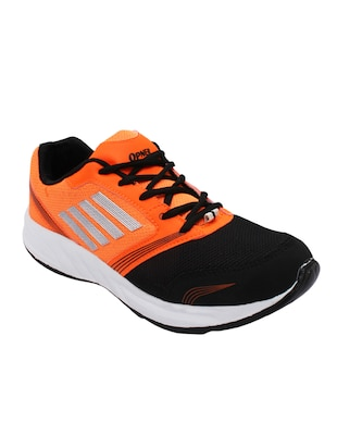 orange lace up sports shoe -  online shopping for Sports Shoes