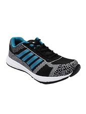 black mesh & synthetic lace up sports shoes -  online shopping for Sports Shoes