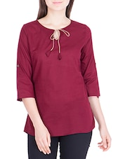maroon rayon regular top -  online shopping for Tops