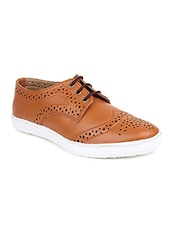 tan synthetic & mesh plimsolls casual shoes -  online shopping for Casual Shoes
