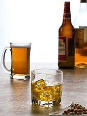 Transparent Glass Water And Beer Mugs (set Of 8) - By