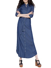 blue maxi denim dress -  online shopping for Dresses