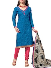 Chudidar Dress Material(Blue,Pink) - By