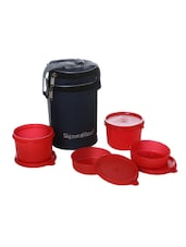 Signoraware Executive Lunch Box with Bag  4 Containers Lunch Box 1260 ml