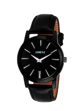 LORENZ MK-1015A black dial new slim Men's Watch -  online shopping for Analog Watches