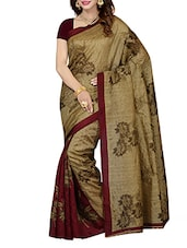 beige printed saree -  online shopping for Sarees