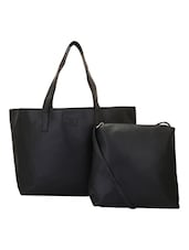 black leatherette  tote -  online shopping for Totes