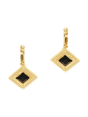 black metal drop earring -  online shopping for earrings