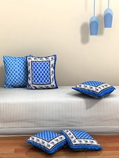 AJ Home Set Of 5 Cotton Ethnic Cushion Covers - By