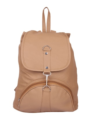 beige leatherette  backpack -  online shopping for backpacks