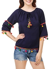 navy blue none regular top -  online shopping for Tops