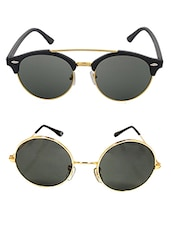 Aventus Sunglasses Combo- Golden Round Sunglasses & Round Clubmaster Sunglasses -  online shopping for Sunglasses