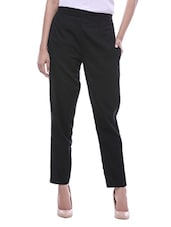 black cotton trouser -  online shopping for Trousers