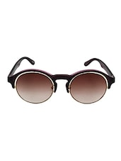 6by6 Purple & Golden Round Unisex Sunglasses - By