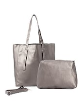 silver shimmer regular tote -  online shopping for Totes