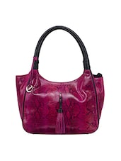 Pink leather regular handbag -  online shopping for handbags
