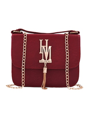 red leatherette sling bag -  online shopping for sling bags