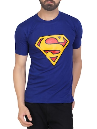 blue cotton character tees tshirt -  online shopping for T-Shirts