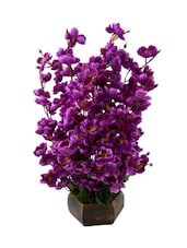 """""""The Fancy Mart Classic Purple Wild Flower Artificial Flower  With Pot (20 Inch, Pack Of 1)"""" - By"""