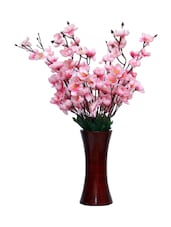 """Street Pink Orchids Artificial Flower  With Pot (22 Inch, Pack Of 1)"""" - By"""