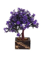 """Blue Wild Flower Artificial Flower  With Pot (9 Inch, Pack Of 1)"""" - By"""