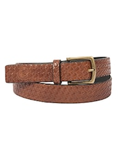 brown synthetic leather) belt -  online shopping for belts