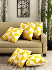 Romee Cotton Printed Set Of 5 Cushion Cover - By