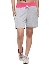 grey cotton sports shorts -  online shopping for Shorts