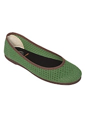 green canvas slip on ballerina -  online shopping for ballerina