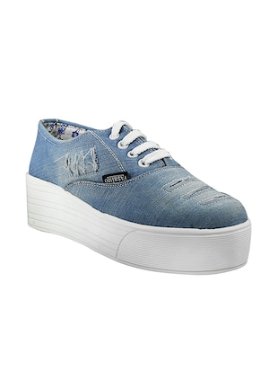 blue synthetic & mesh plimsolls sneakers -  online shopping for Sneakers