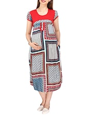 red rayon maternity wear -  online shopping for maternity wear