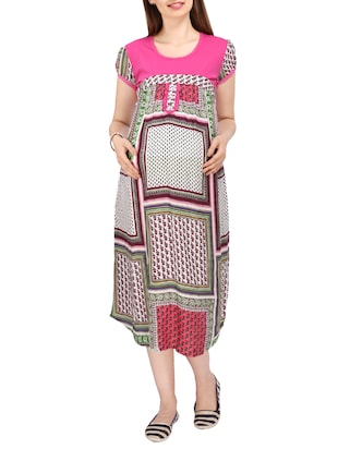 pink rayon maternity wear -  online shopping for maternity wear